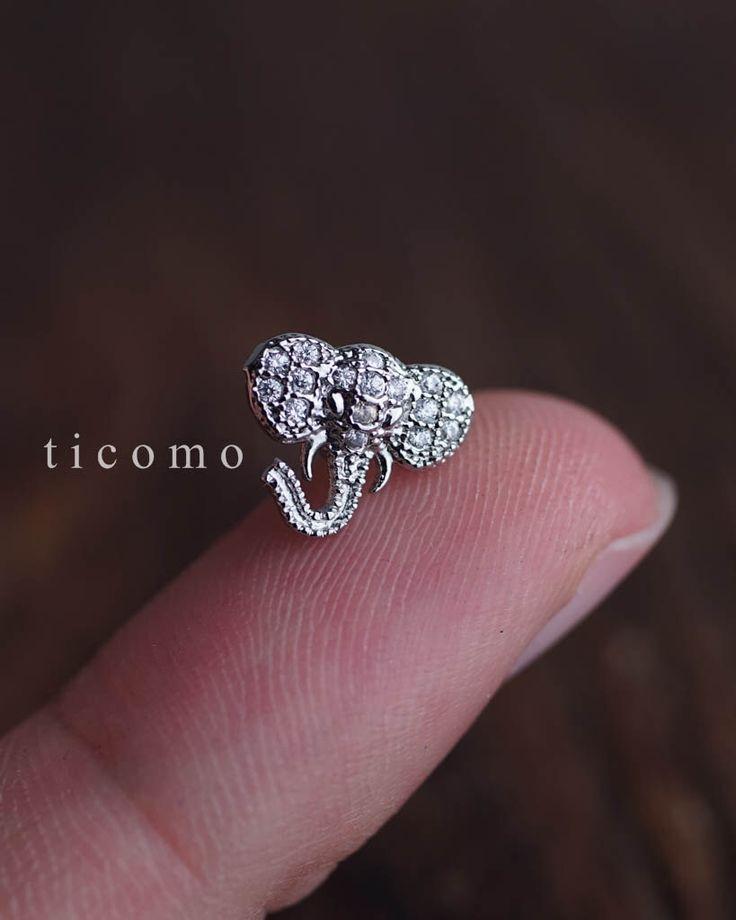 cartilage earring 16g helix earring helix piercing cartilage piercing tragus earring tragus piercing conch piercing elephant by ticomo on Etsy https://www.etsy.com/listing/276062426/cartilage-earring-16g-helix-earring
