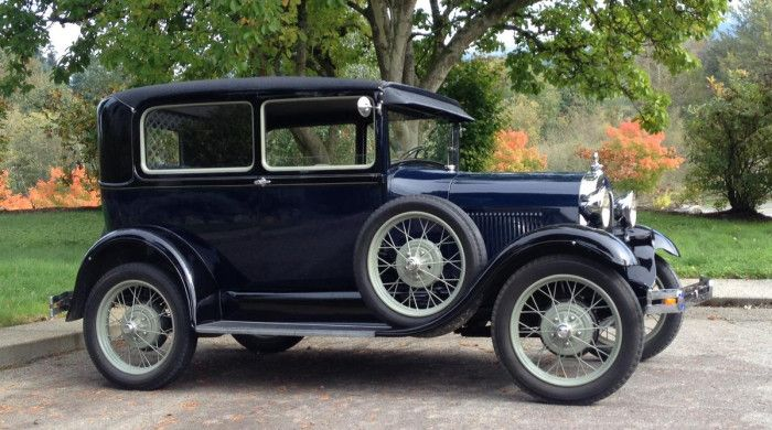 1929 Ford Model A Tudor. Hot wheels, curves, park, oldsmobile, vehicle, transporation, history, sprød, photo.