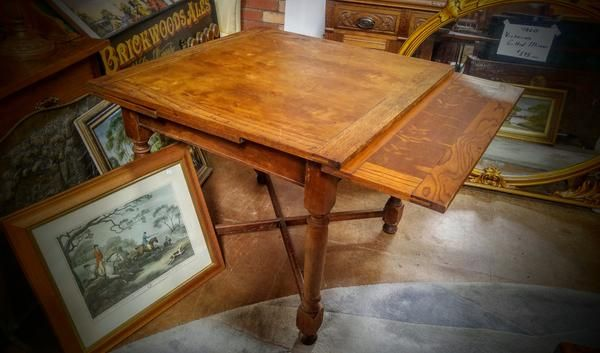 GA1053   -   French Oak extension table c1870