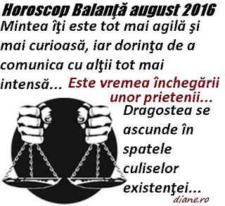 diane.ro: Horoscop Balanţă august 2016