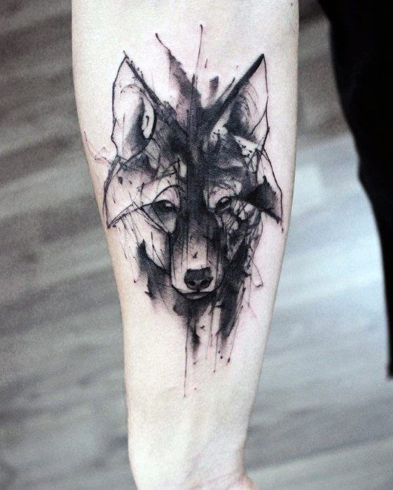 50 Wolf Aquarell Tattoo Designs für Männer – Cool Ink Ideas