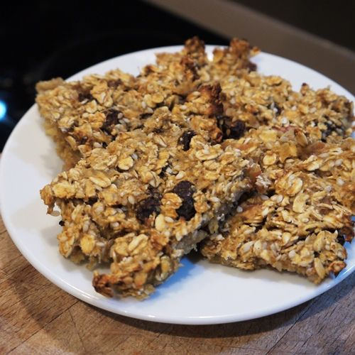 Healthy Baked Flapjacks - only 6 ingredients!!