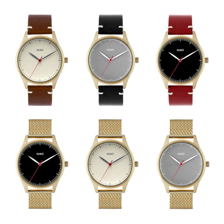 We're very excited to release a whole range of new color combinations to the product line! Check them out on www.mirowatches.com/watches and pick your favorite!