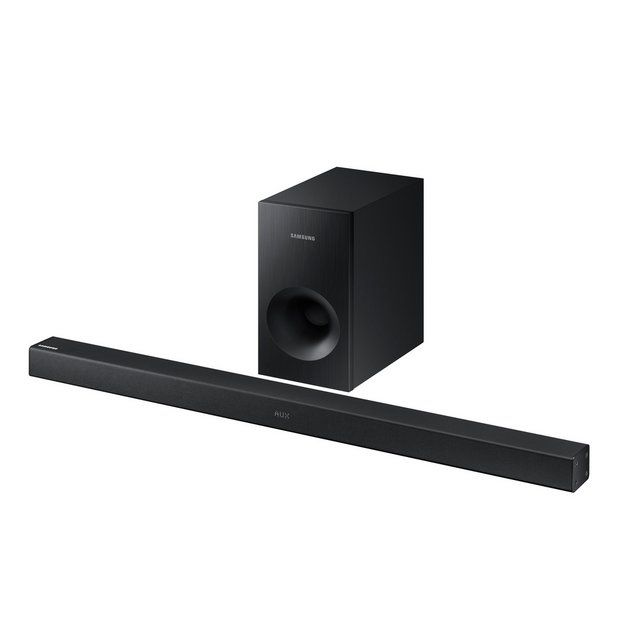 Buy Samsung HW-K360 XU 130W 2.1Soundbar With Wireless Subwoofer at Argos.co.uk - Your Online Shop for Sound bars, Home cinema systems and sound bars, DVD players, blu-ray players and home cinema, Technology.
