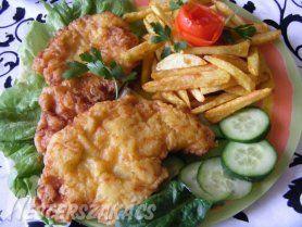 Sajtos palacsintatésztában sült csirkemell recept