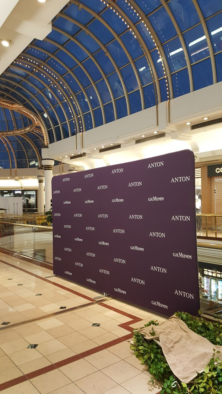 Anton Jewellery ordered a 6metre wide x 2.4m tall fabric media wall for their VIP night. The media wall was intended for photos of special guests and celebrities.