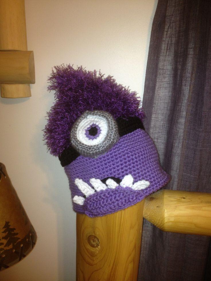Crochet Purple Minion Hat Pattern Www Imgkid Com The