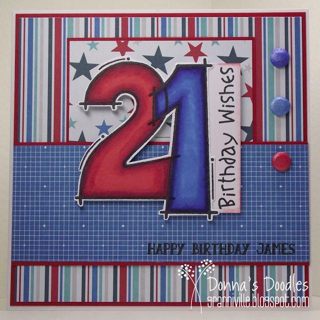 Donna's Doodles: 21st Birthday Card (Brother)