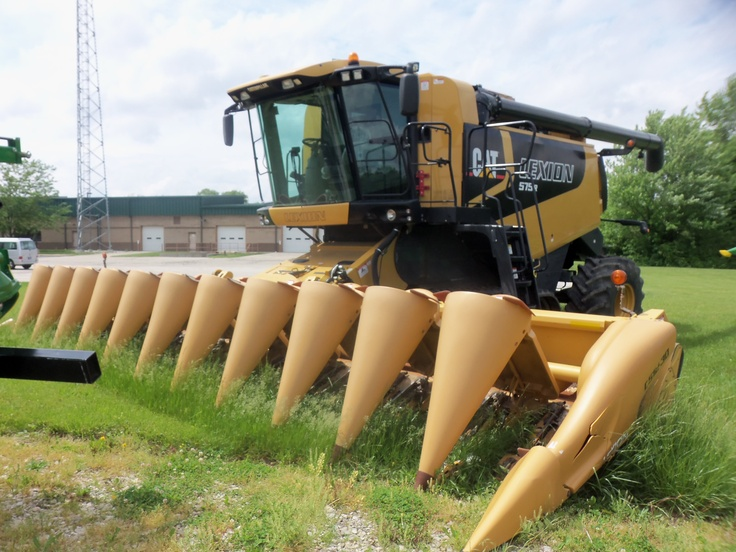 Caterpillar Lexion 575R combine. HOLT AgriBusiness also sells, rents and services the full line of Caterpillar machines, engines and power generation equipment in Texas.