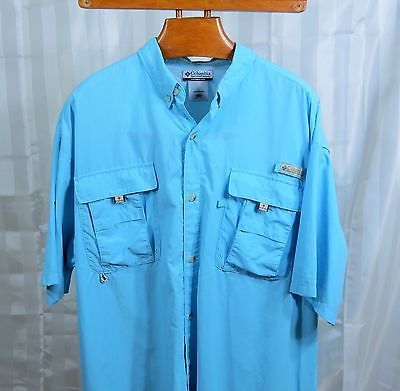 Columbia Pfg Omni Shade Mens S S Button Down Shirt Xlt Big