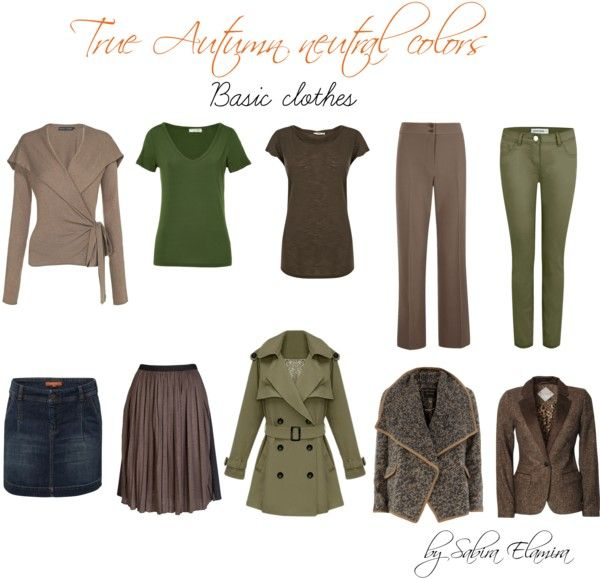 """""""True autumn neutral colors"""" by sabira-amira on Polyvore"""
