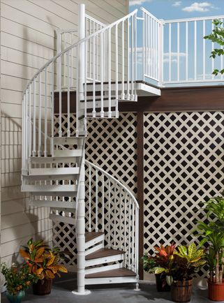 Best Trex® Spiral Stairs™ By The Iron Shop New In Late 2013 400 x 300