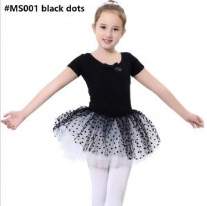 ballet dress MS001 black dots