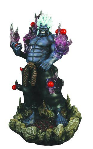 """SOTA Toys Street Fighter 4 Oni Resin Statue by SOTA Toys. $174.99. 1:6 scale statue stands 12"""" tall. Based on the classic Street Fighter video game series. LEDs in the flames and on the base light up. Features clear resin flames holding Oni's signature beads aloft. From the Manufacturer                Oni will be one of the first additions to SOTA's line of high-quality Street Fighter 4 resin statues. This 1/6-scale resins statue, standing approximately 12"""" tall from head..."""