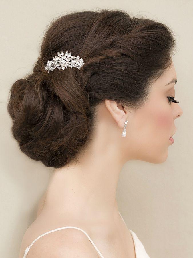 rohanita petite rhinestone comb in silver silverpearl and rose gold