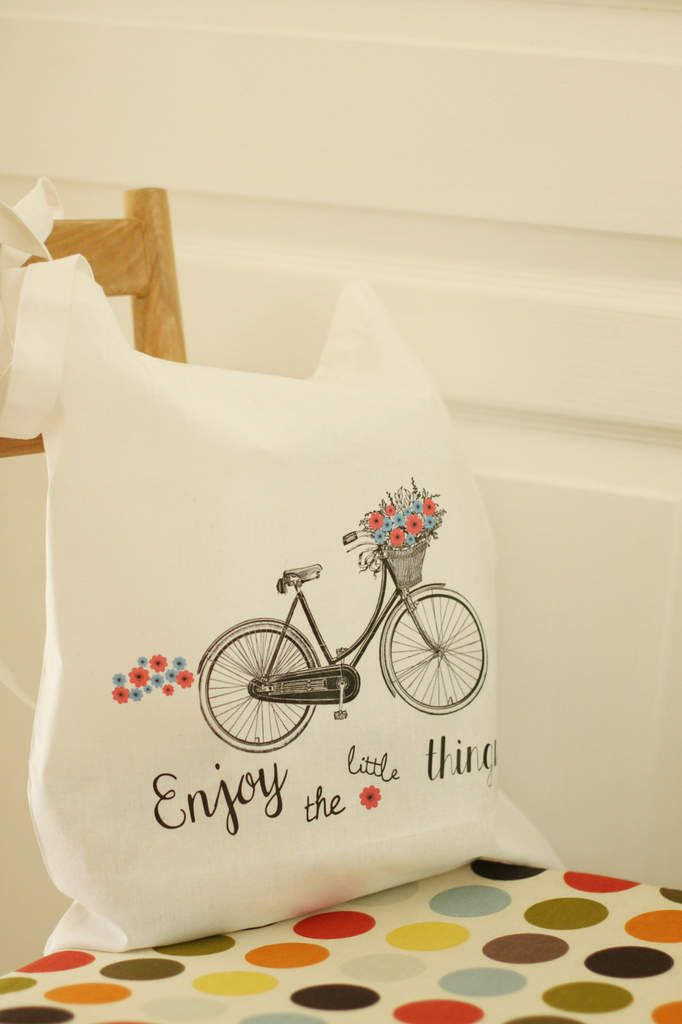 """Tote bag """" à bicyclette"""" {Printable} - Avec ses 10 p'tits doigts... Soyez DIY !"""