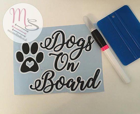 Dogs On Board Vinyl Car window sticker #decal #vinyl #window #sticker #dogs #doglovers #etsy #etsyshop #etsyseller