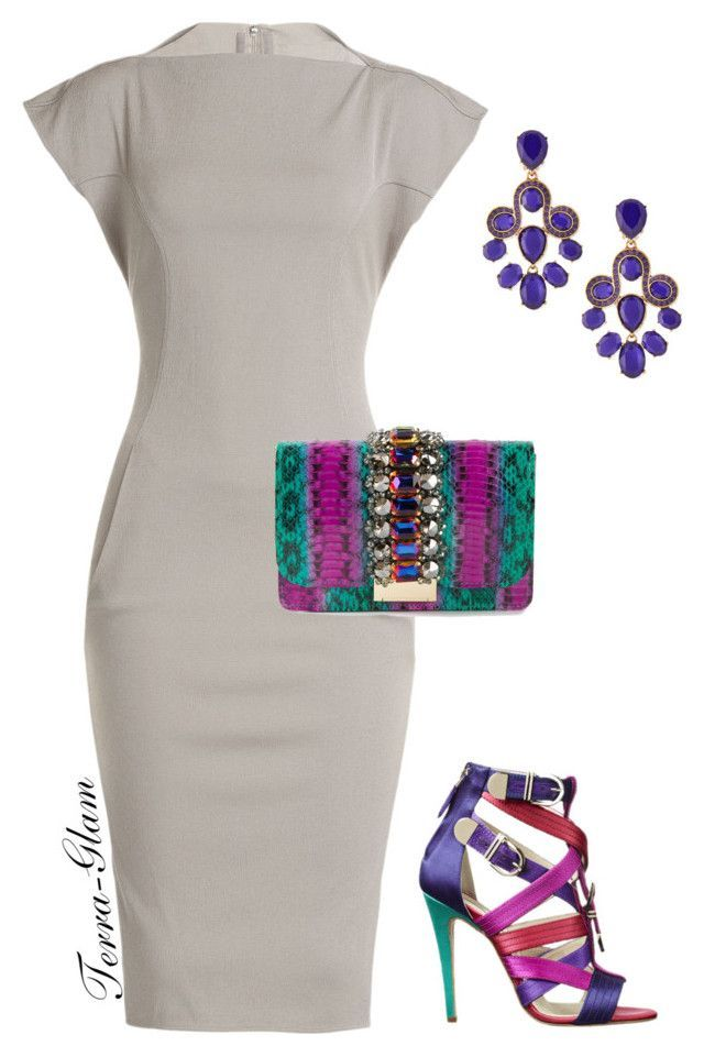 """""""Simple Yet Colorful!"""" by terra-glam ❤ liked on Polyvore featuring Rick Owens, Brian Atwood, GEDEBE and Oscar de la Renta"""