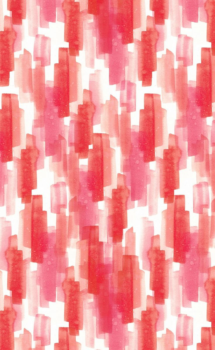 watercolor dashes by Melissa Kelman pink red