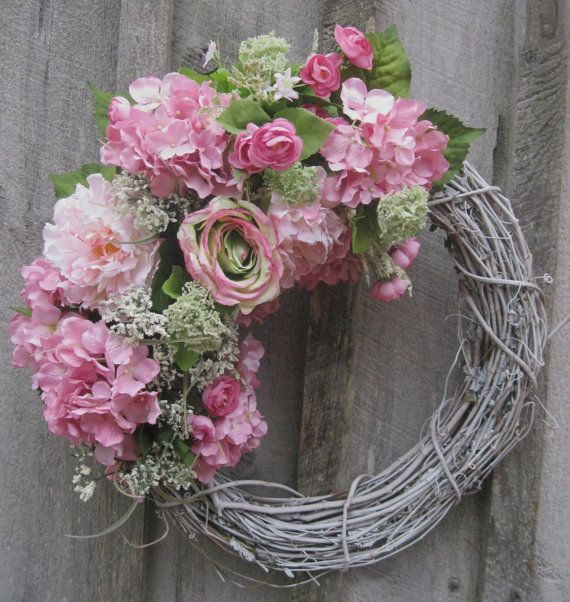 Spring Wreath, Easter Wreath, Country French, Romantic Cottage Chic, Wedding