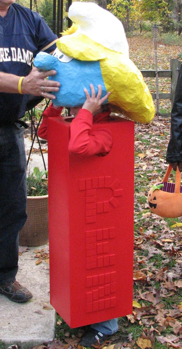 PEZ dispenser costume. This would be fun to do a whole assortment of different PEZ for a family costume