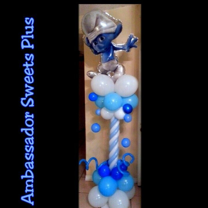 Smurf Balloon Column