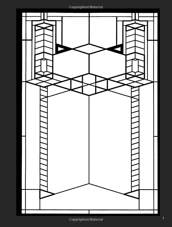 55 best images about icolor stained glass windows on for Frank lloyd wright coloring pages
