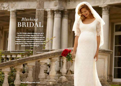 Abiti da sposa per donne incinte 2015 collezione Tiffany Rose IMMAGINI