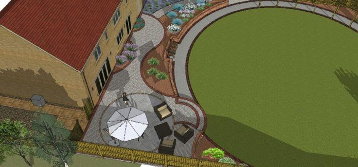 25 best sketchup images on pinterest yard design for Computer landscape design