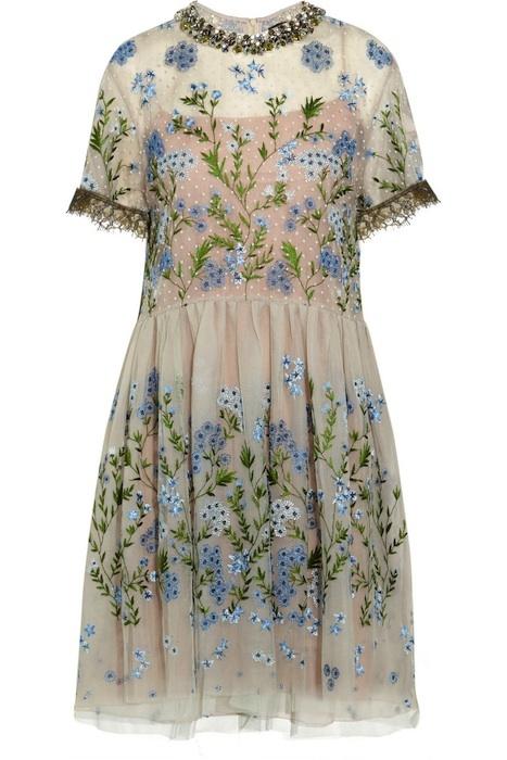 Biyan - Audrey Embellished Tulle Dress