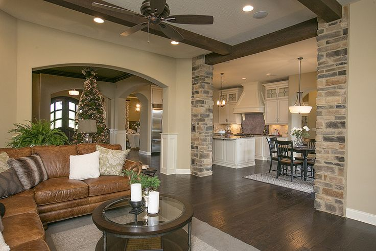 Loving the exposed brick and open floor plan