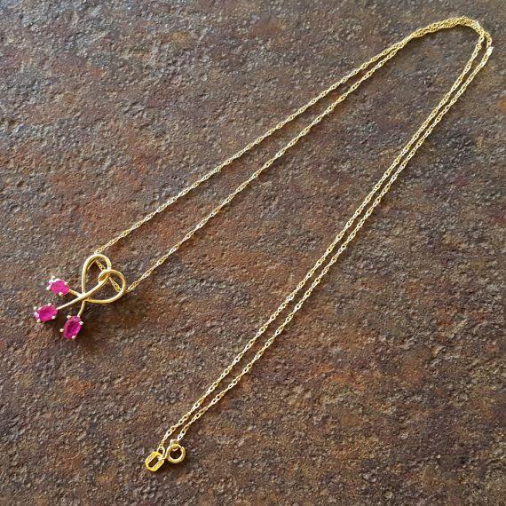 13 mejores imgenes de vintage antique jewelry en pinterest reserved for baicai ruby necklace 10k gold vintage av00rn cst aloadofball Image collections