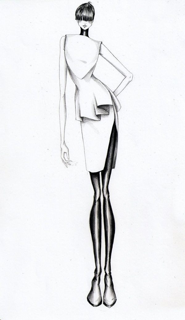 Fashion Illustration V by Volpibr.deviantart.com
