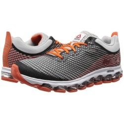 Zappos.com is proud to offer the Reebok - Z Jet (Steel/Flux Orange/Black) - Footwear: For a running experience unlike any other, the Reebok Z Jet offers unmatched comfort with full-foot air technology that flexes with the runner's foot. ; Part of the Moving Air Collection. ; Breathable mesh upper with synthetic Nanoweb overlays for durability. ; Low-cut silhouette for added mobility. ; Lace-up closure for optimal fit. ; Heel pull-tab for easy on and off. ; JetFuse technology features ...