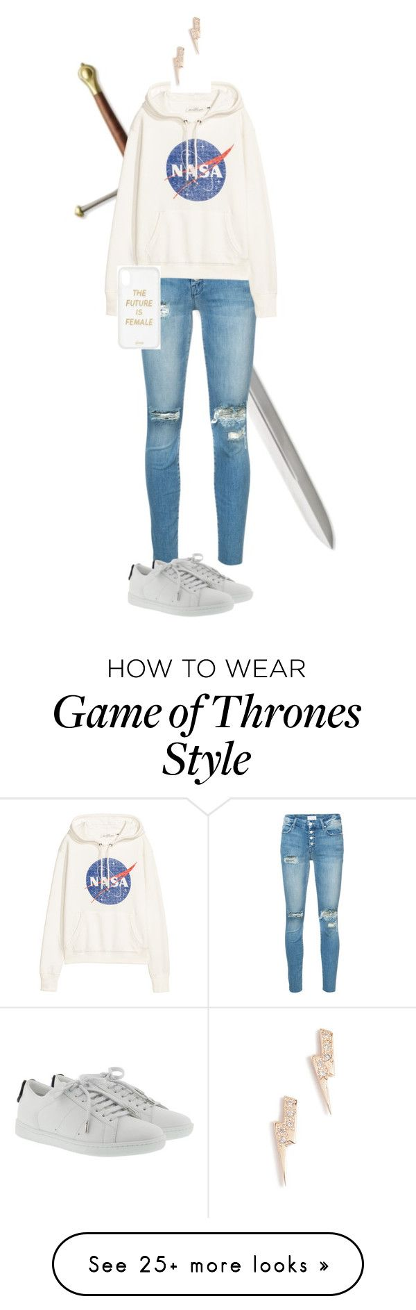"""""""Daughter of Zeus"""" by olivia244sage on Polyvore featuring Mother, Yves Saint Laurent, Sonix and Sydney Evan"""