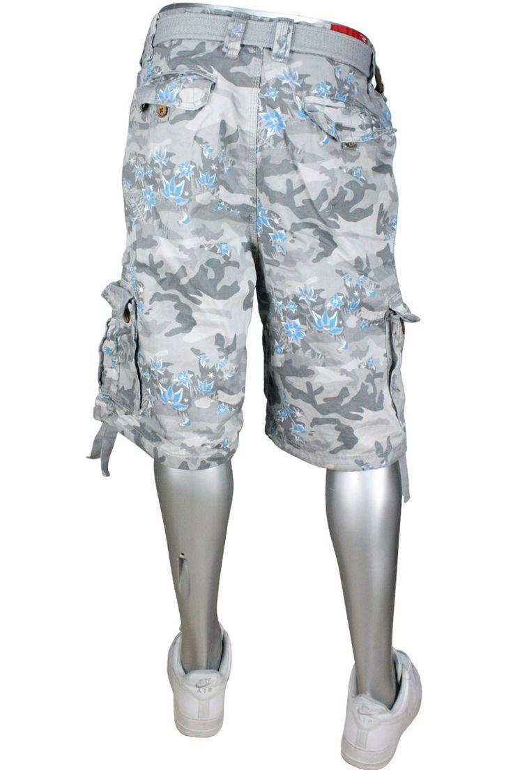 Jordan Craig Floral Camo Pattern Cargo Shorts Sz. 32 Snow ...