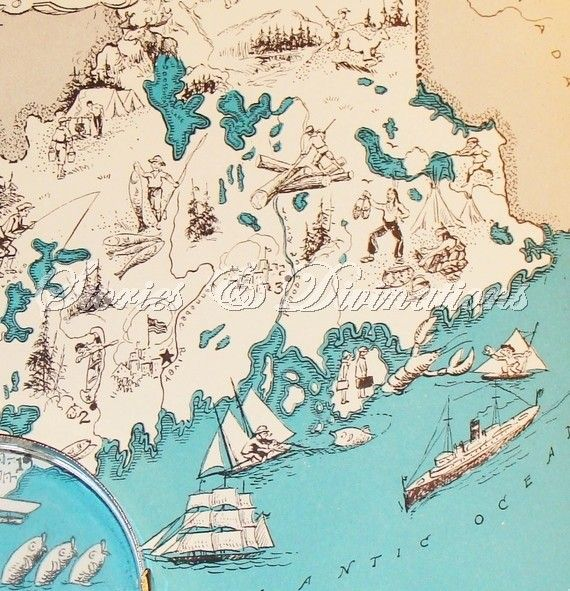 Best Maps Images On Pinterest Vintage Maps Old Maps And - Us vintage map with dowel