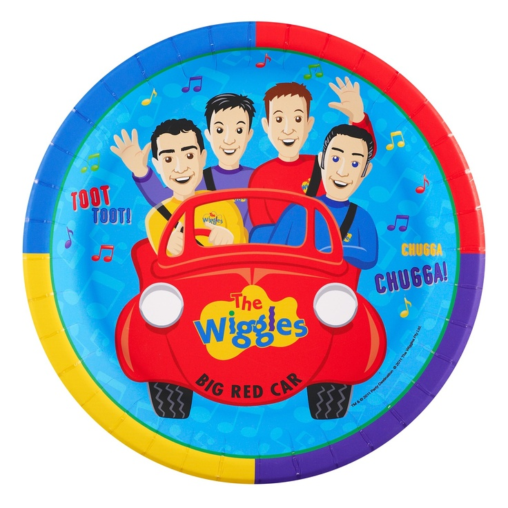 The Wiggles Birthday Party Plates
