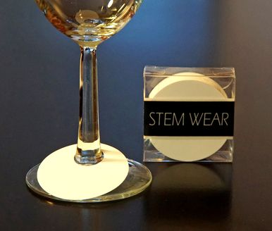 STEM WEAR ™ Set of 50 disposable paper tags. Write your name or wine type on these handy disposable wine glass tags. Great for parties, tasting events, or any occasion in which glasses could easily be confused. Great for both wine and martini glasses