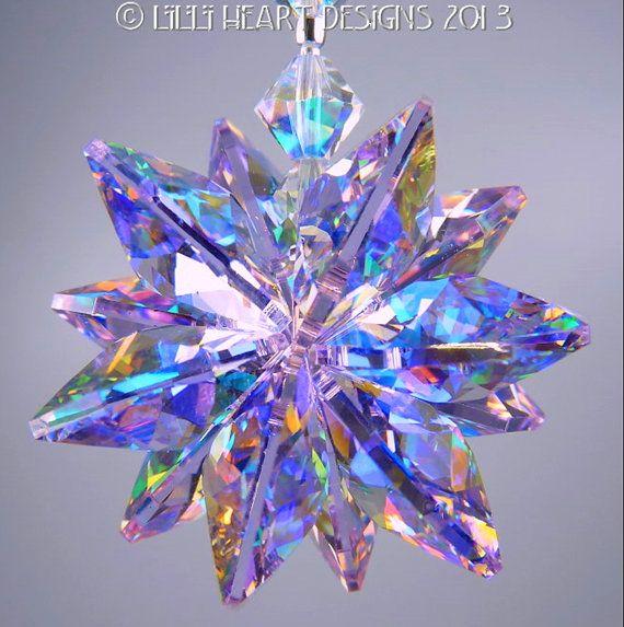 m/v Swarovski Crystal zeldzame Limited Edition Aurora Borealis coating Violet…