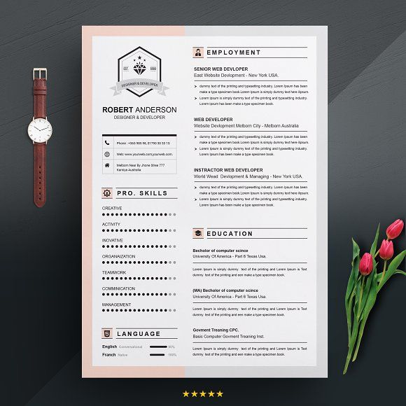 Resume Template Apple Pages Resumes Professional