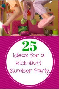 25 Great ideas for a girls Slumber Party from Life is Poppin. All the best DIY ideas you need to throw a great slumber party!