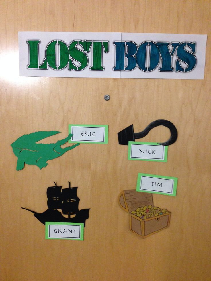 "Creative suite style Disney themed door decs. From the movie ""Peter Pan"". (decor dec name tag ra dorm reslife) By RA Austin Grant (4/7)"