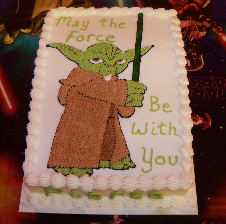 "Yes, please, and thank yo(da)u. But why did I expect him to say, ""With you may the force be..."" Yoda Cake"