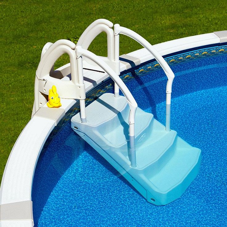 1000 ideas about above ground pool ladders on pinterest for Above ground pool decks tampa