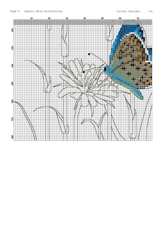 Gallery.ru / Фото #13 - Ajisai Designs - Adonis Blue Butterflies - tymannost