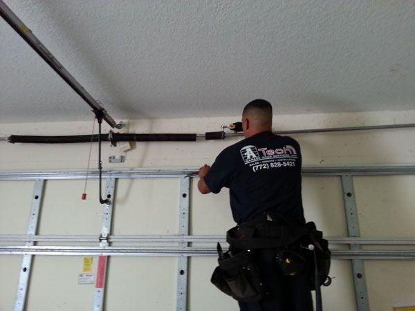 Tips To Consider When Replacing Broken Garage Door Spring #How To Fix A  Broken Garage