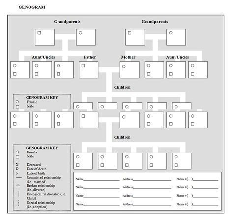 17 best genograms foo images on pinterest for Genograms templates