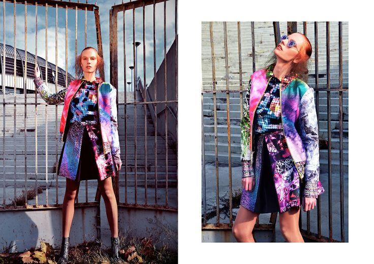 Photo: Orsolya Nagy Styling: Forgeron Model: Viktória Jakab MUA: Bernadett Pető Hair: Simon Wamberszky Skirt: Virag Kerenyi Shirt: DoRV Clothing Jacket: Virag Kerenyi