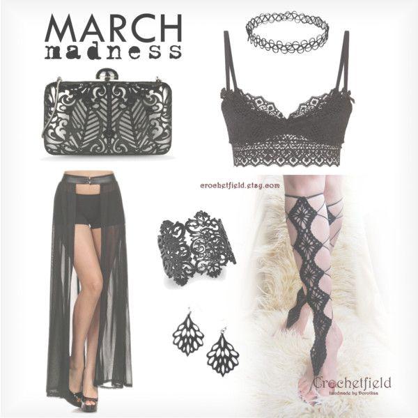 March Madness by Crochetfield by crochetfield on Polyvore featuring moda, Agent Provocateur, Alberta Ferretti and Thalia Sodi